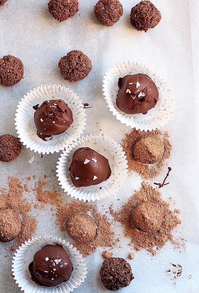 Healthy guilt-free chocolate truffles