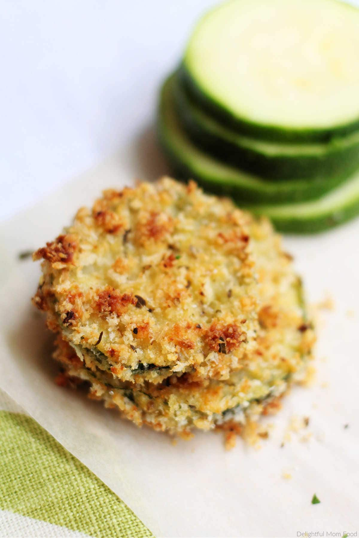 breaded parmesan zucchini fries chips crisps recipe that are gluten free