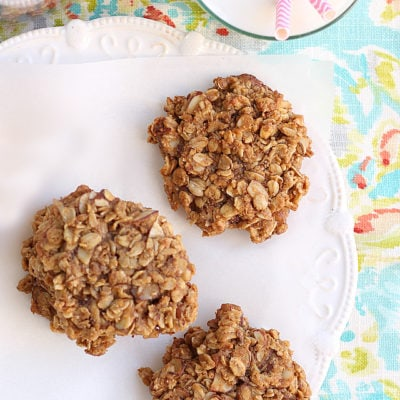 Easiest Peanut Butter Oatmeal Cookies Made With PB Powder