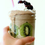 Antioxidant Energy Blasting Kiwi Kale Banana Smoothie