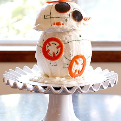 Star Wars BB-8 Droid Cantaloupe Cake