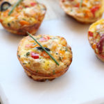 Cheesy Italian Red Pepper Frittata Muffins