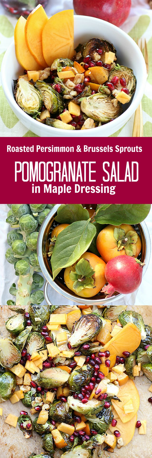 Pomegranate Salad! Roasted with veggies and tossed with Maple Dressing.