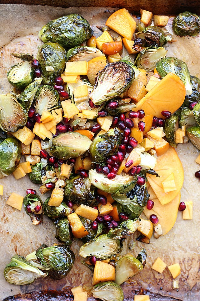 Pomegranate Salad! Roasted with veggies and tossed with Maple Dressing ...