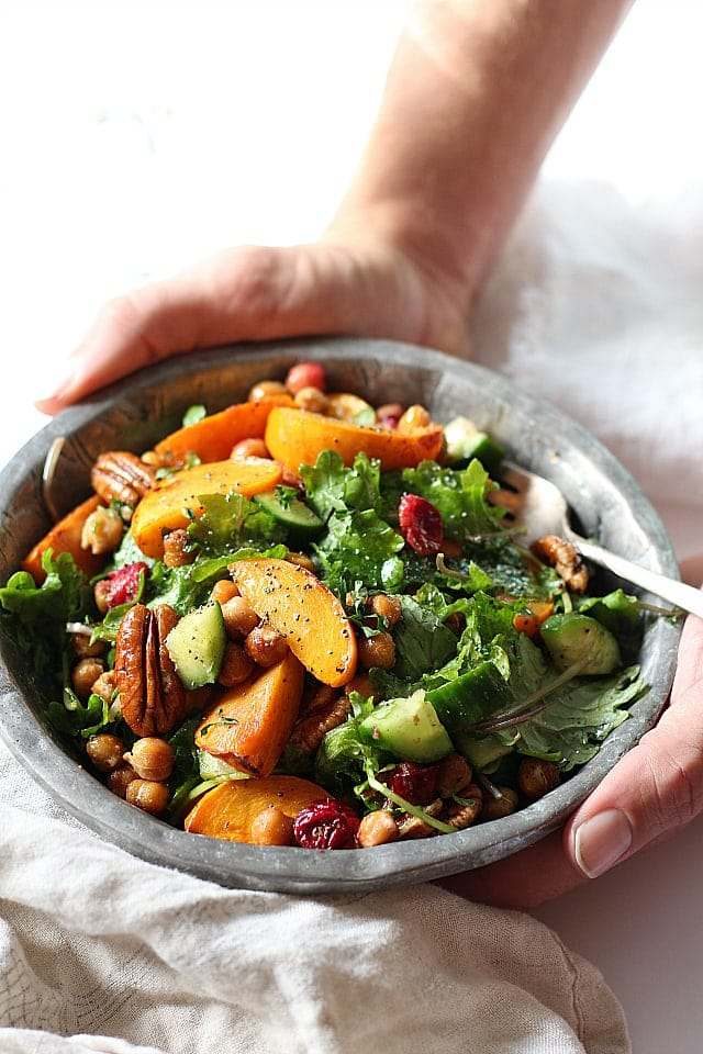 Kale Salad   Healthy Thanksgiving Side Dishes