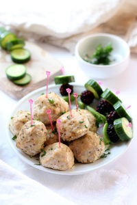 EASIEST Oven Baked Turkey Meatballs + GIVEAWAY!