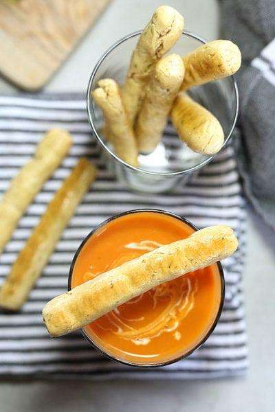 Gluten Free Breadsticks (Dairy-Free Low Carb)