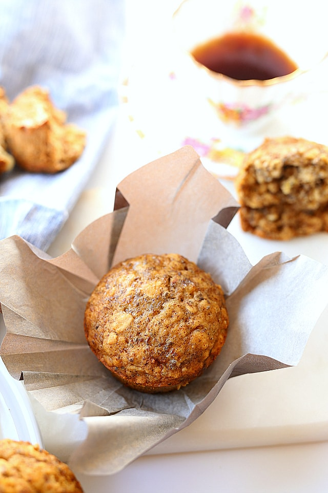 Easy Healthy Oat, Flax and Chia Seed Muffins   Gluten Free