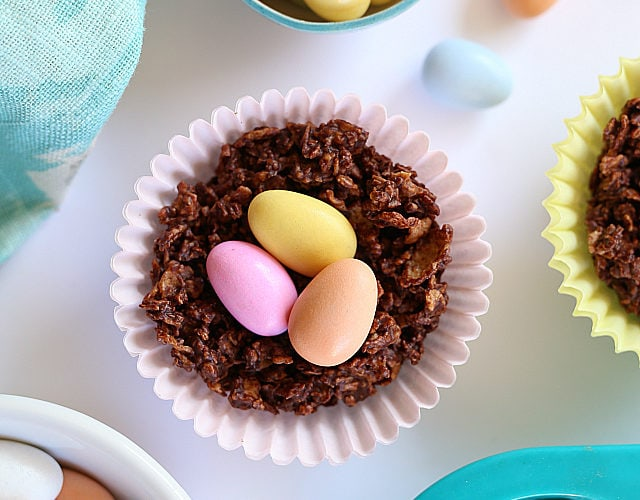 Chocolate Easter Nests For Easter!