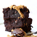 Paleo Brownies Drizzled In Nutty Almond Butter
