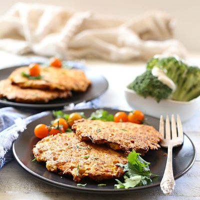 Cauliflower Rice Paleo Fritters Baked In Minutes!