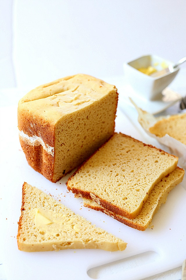 Gluten free bread recipe that is incredibly light, moist and fluffy and better than any store bought bread loaf!