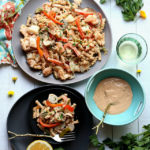 Shrimp and Scallop Pasta In Cajun Garlic Cream Sauce
