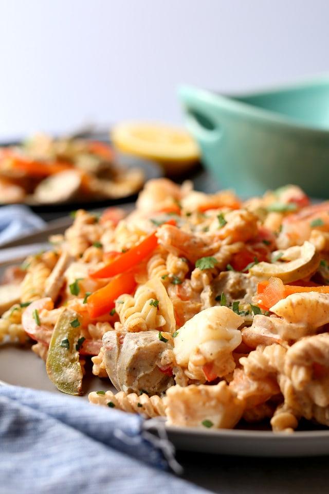 Seafood Pasta With Cajun Cream Sauce