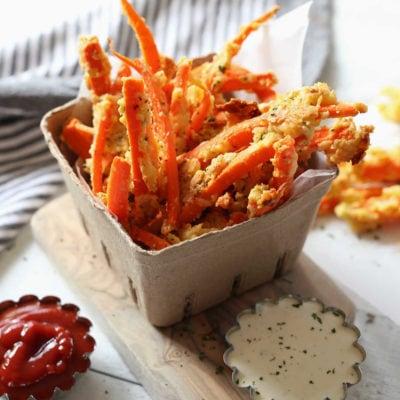 Garlic Parmesan Carrot Fries Recipe
