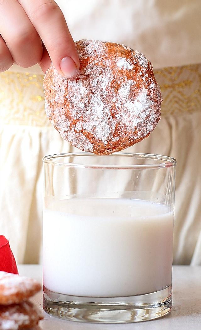 crinkle cookie recipe in milk