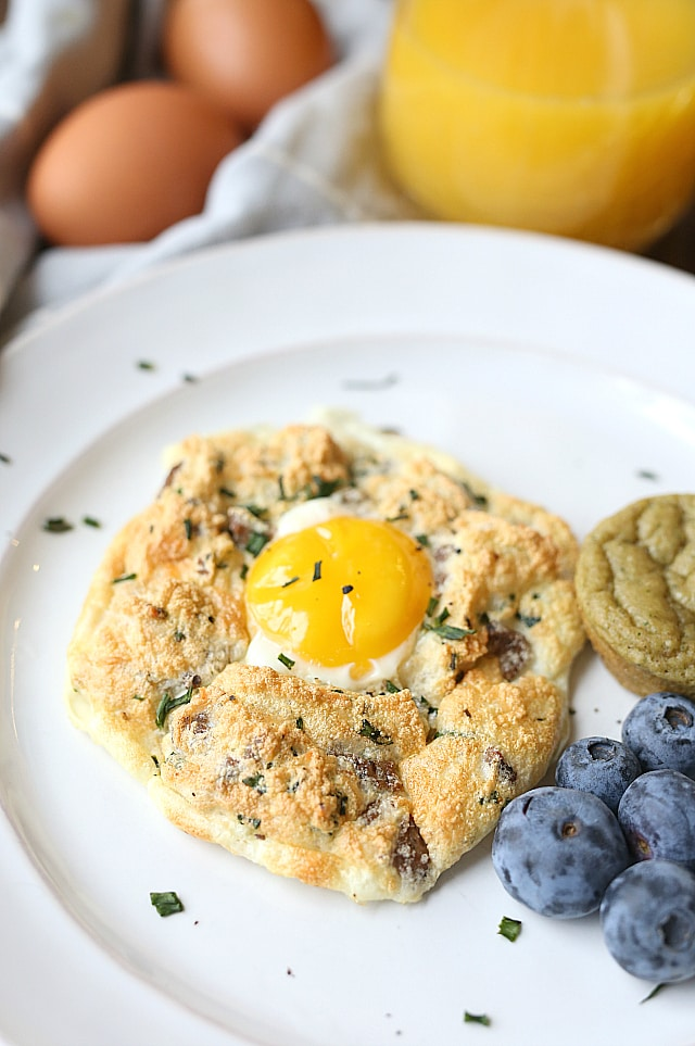 cloud eggs with turkey sausage meat