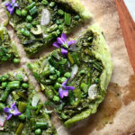 Avocado Crust Pesto Pizza (Vegan & Grain-Free)