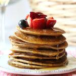 Blender Banana Oat Pancakes