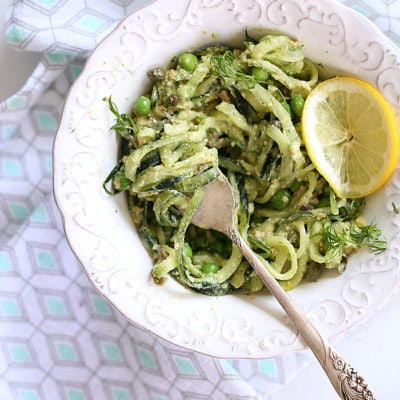 Dill Pesto Cucumber Noodle Bowl