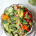 Simple White Bean Tomato Cucumber Salad With Avocado Broccoli Dressing