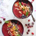 Cranberry Smoothie Bowls