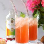 Kombucha Wine Spritzer Made With Rosé or White Wine