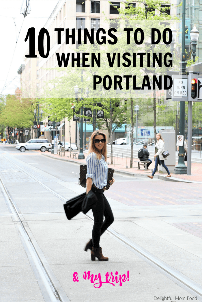 Sharing all the details of my fabulous trip to Portland, Oregon, along with my Top 10 Places To Visit in Portland! #travel #portland #vacation #PDX #trips | Details at delightfulmomfood.com