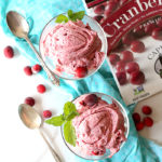 Healthy Cranberry Ice Cream With Butter Rum Chocolate Sauce (Vegan)