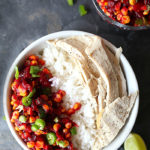 Spicy Cranberry Corn Salsa Turkey Bowl