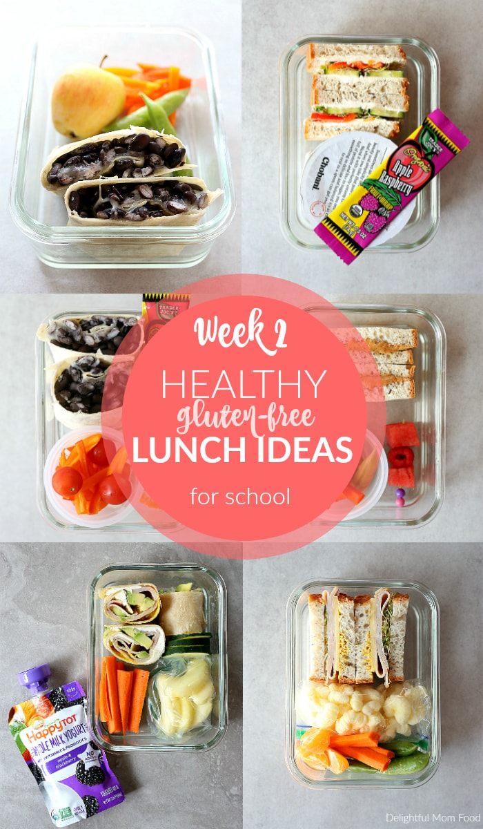healthy gluten-free lunch ideas for school: week 2 | delightful mom food