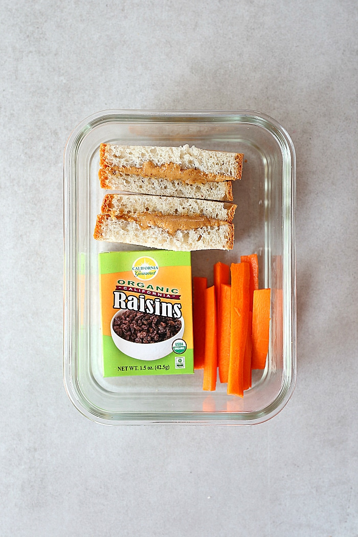 Peanut Butter Honey Sandwich Healthy Lunch Idea For School