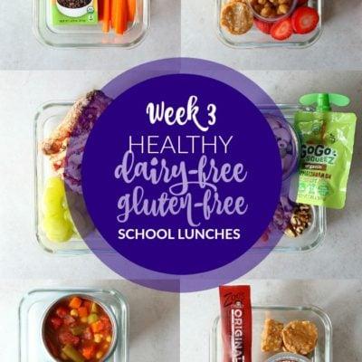 Dairy-Free Gluten-Free School Lunches: Week 3