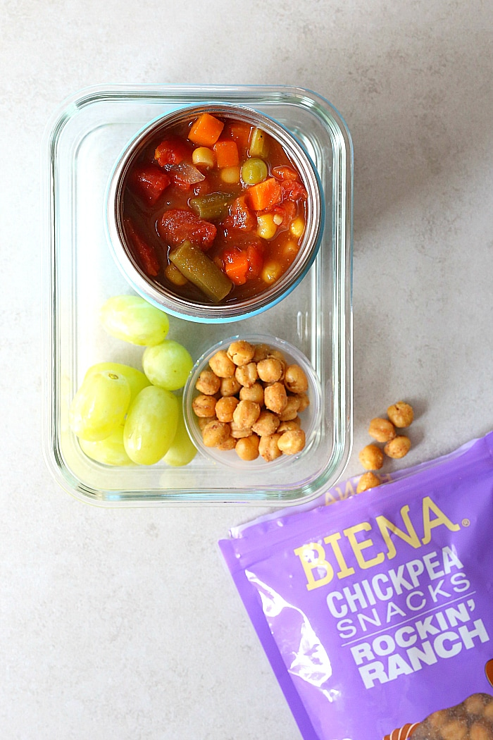 Hearty vegetable soup for kids lunchbox | for more ideas check out delightfulmomfood.com