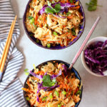 Thai Peanut Sauce Ground Turkey & Cabbage Bowls