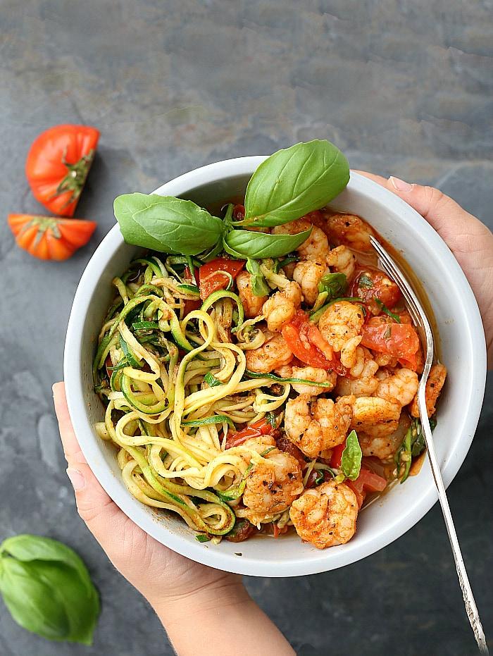 zucchini shrimp pasta