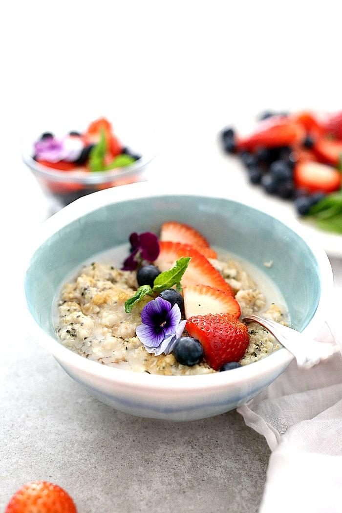 Chia seed oatmeal