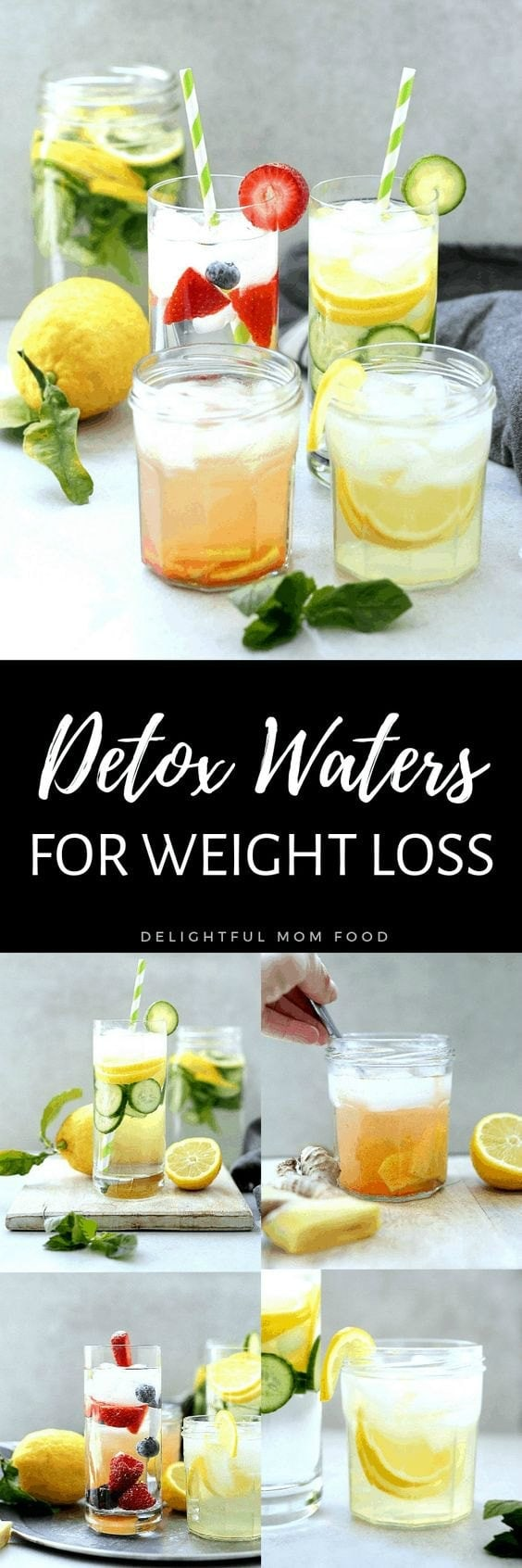 Drinking detox water for weight loss is the ultimate cleanse to heal your gut and transform your body! These detox water recipes boost your metabolism, eliminate toxins and amplify glowing skin! #detox #water #cleanse #recipes #weightloss #detoxwater #detoxdrinks | Delightful Mom Food