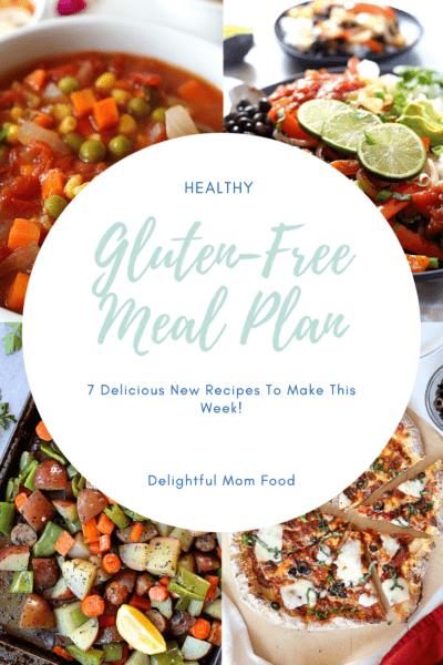 A flavorful Gluten Free Meal Plan that will help you revolutionize dinner time! A list of 7 weeknight meals that are quick, easy, healthy and delicious! #glutenfree #mealplan #healthy | Delightful Mom Food