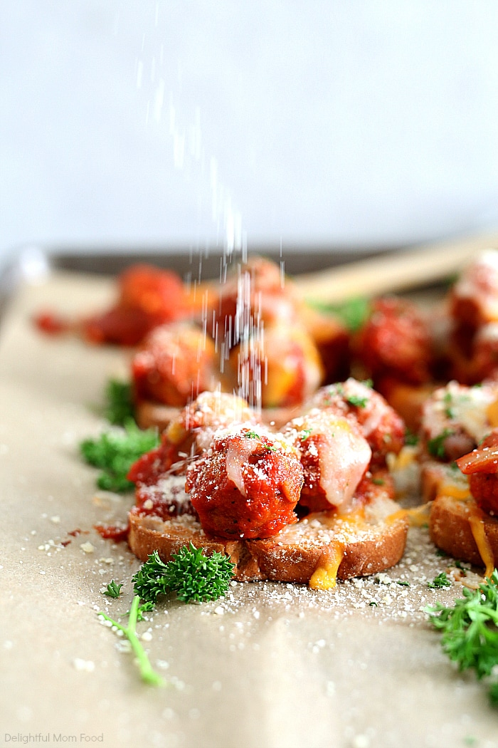 If you like a hearty meatballs then you will love this lower carb open faced meatball sandwich recipe! It is a gluten-free quick and easy weeknight dinner ready in as little as 20 minutes and makes dinners a breeze! #easy #dinner #recipe #meatball #sandwich #openfaced #quick #glutenfree | delightfulmomfood.com