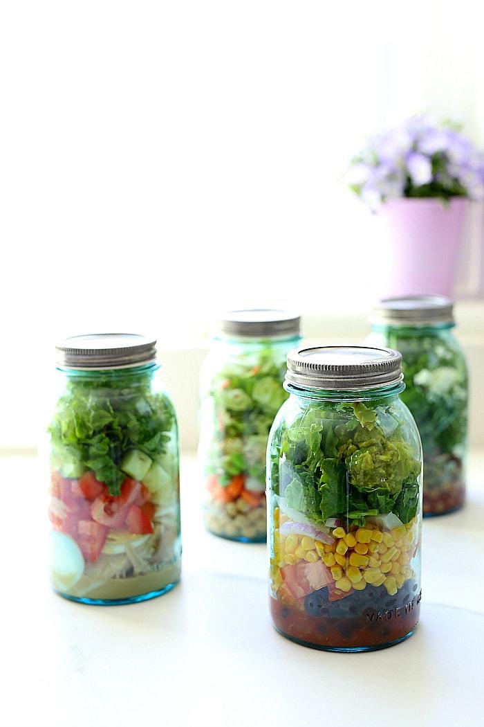 4 Meal Prep Salad Ideas In A Mason Jar Delightful Mom Food