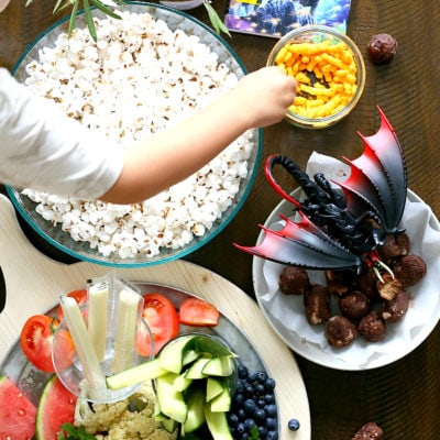 "How To Make An Epic Family Movie Night With How To Train Your Dragon 3! Includes winning healthy snack ideas like ""Dragon Droplets"" for making a fun filled family movie night the kids can get involved putting together! #ad #pmedia #TrainYourDragonAtWalmart #familymovienight #healthysnacks 