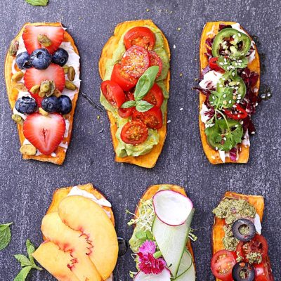 Win over family and friends with these six delicious sweet potato toast recipes! Sweet potato toast simple to make, great for paleo, vegan and gluten-free diets and they are packed with healthy nutrients! #sweetpotato #recipe #toast #sweetpotatotoast #vegan #glutenfree #healthy #easy #quick #sweetpotatoavocadotoast | Recipes at Delightful Mom Food