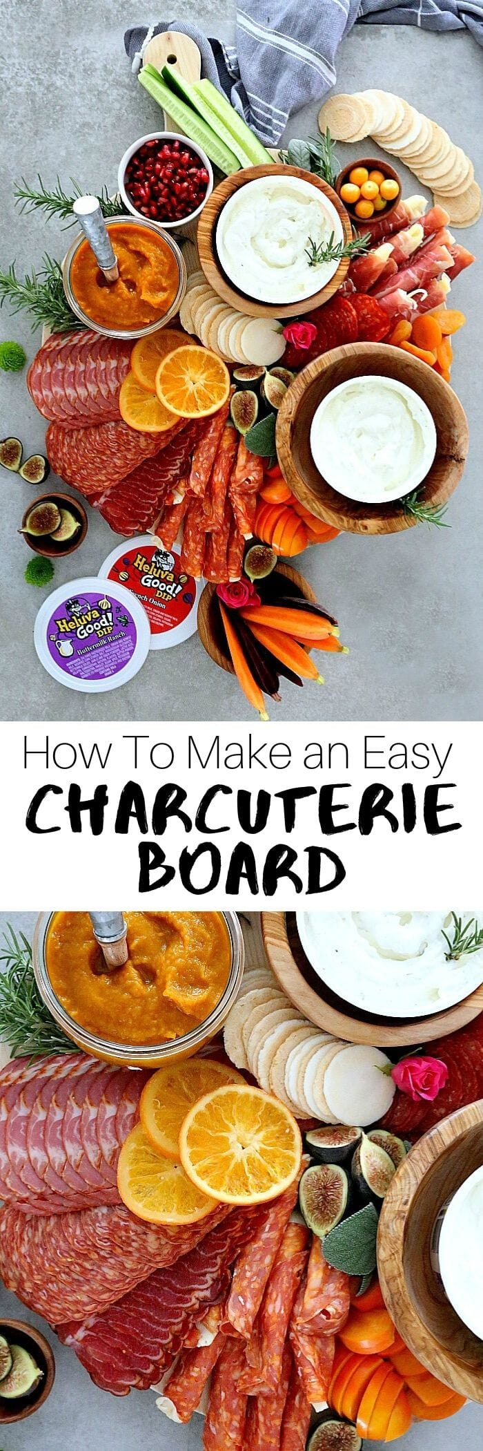 Celebrate and host a party with this Charcuterie board! This winning Charcuterie platter is loaded with meats, dried fruit, the perfect dips, gluten-free crackers and tips on how to make the perfect holiday Charcuterie board- the greatest focal point to every party!#charcuterieboard #charcuterie #glutenfree #recipe #wholesome #appetizer | Recipe at Delightful Mom Food
