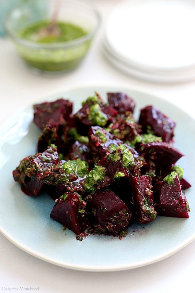 roasted beets with herb salad dressing