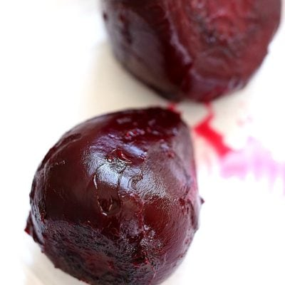 Roasted beets! Learn easily how to roast beets at home. Roasted beets are great to ramp up the flavors in dishes when added in salads, tossed with quinoa, pureed into hummus and eaten alone drizzled in oil, salt and pepper. #roastedbeets #howtoroastbeets #healthyrecipes #beets #beetrecipes #roasted #delightfulmomfood | Recipe at Delightful Mom Food