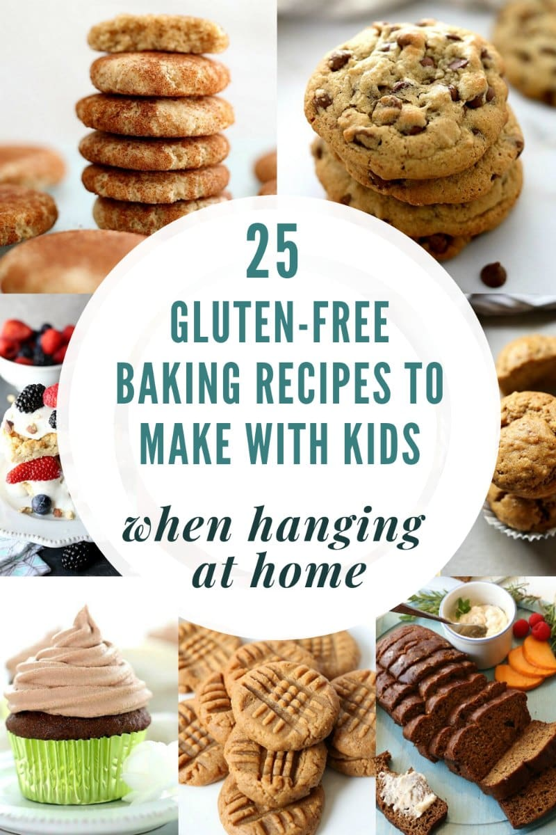 Top 25 gluten-free baking recipes to do with kids at home! No matter what the weather is outside, if kids have off school, at home sick, or are homeschooling, these recipes are fun to create to relish and make the time well spent! #thingstodowithkids #baking #recipes #glutenfree #glutenfreebaking #kidfriendlyrecipes #kidfriendly | Recipes at Delightful Mom Food
