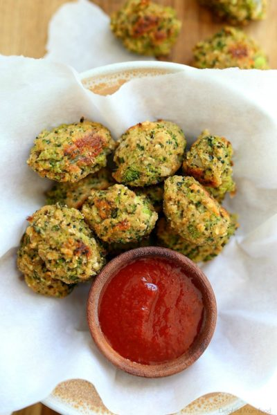 "Broccoli tots or ""tater tots"", easily made with pantry and freezer ingredients! This broccoli tater tots recipe is a game changer for getting kids to eat vegetables in a fun way! They are crispy, delicious and so simple to make!  #broccolitots #broccolitatertotsrecipe #broccolitatertots #glutenfree #dairyfree #recipe #easy #kidfriendly #kidfood #healthy #healthysnacksforkids 