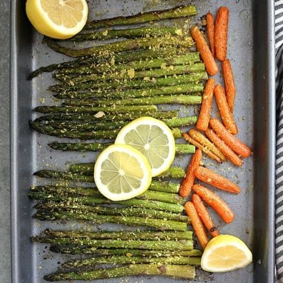 Easy Roasted Asparagus and Carrots