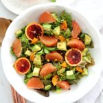 This everyday favorite detox salad recipe bursting with flavorful citrus fruits and leafy greens that leave taste buds fully satisfied. It is a little bit of sweet and salty and tangy all into one delicious salad cleanse! #detox #detoxsalad #citrussalad #healthy #vegan #saladrecipe #quick #easy #recipe #saladcleanse #citrusvinaigrettedressing #weightloss #weightlossrecipe | Recipe at Delightful Mom Food